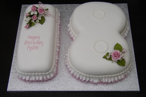 18th Birthday Cake With Sugar Flowers