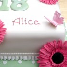 2 Tier 18th Birthday Cake With Sugar Gerberas