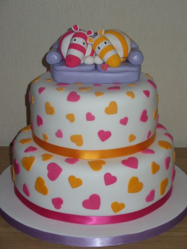 2 Tier Impossimals Inspired Wedding Cake