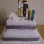 Snowboarders Wedding Cake