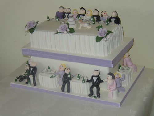 Drunken Wedding Reception Party Cake