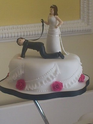 3 Tier Wedding Cake With Sugar Flower Spray And Personalised Topper
