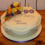90th Birthday Cake With Sugar Flower Spray
