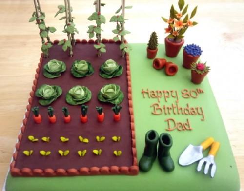 Gardeners Allotment Novelty Cake