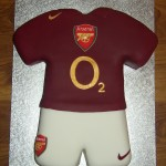 Arsenal Football Strip Birthday Cake
