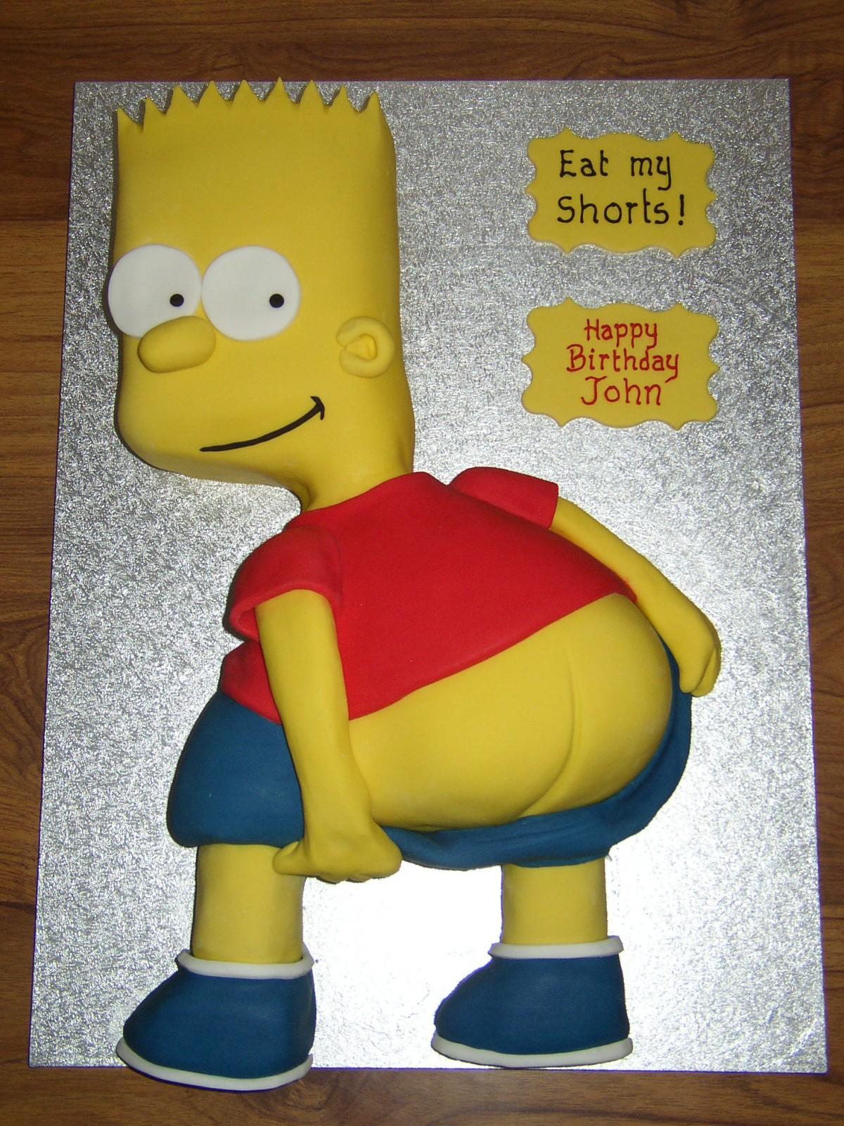 Enjoyable Bart Simpson Inspired Birthday Cake Susies Cakes Personalised Birthday Cards Veneteletsinfo