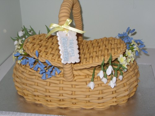 Wicker Basket Of Wild Flowers