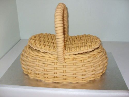 Wicker Basket Ready For The Flowers Of Your Choice