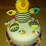 Novelty Childs Bee Toy Birthday Cake