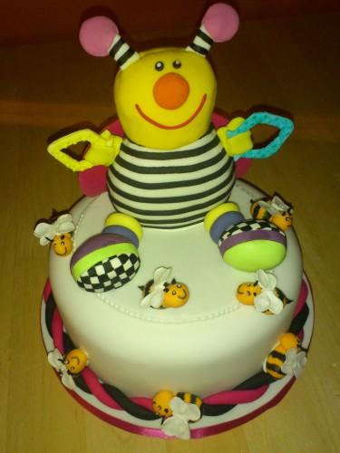 Novelty Childs Bee Toy Birthday Cake