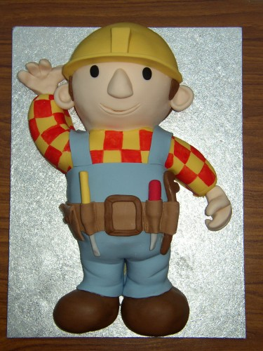 Bob The Builder Inspired Birthday Cake