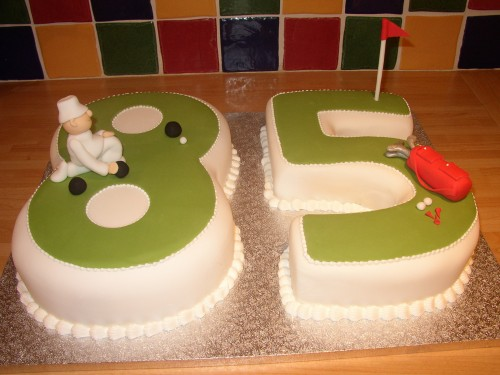 Bowls And Golf Novelty Birthday Caket