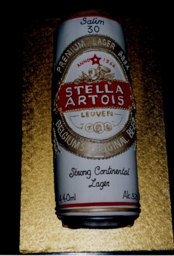 Can of Belgian Lager Birthday Cake