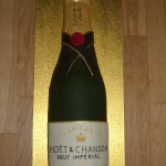 Champagne Bottle Novelty Cake