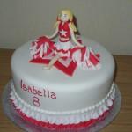 Cheerleader Inspired Birthday Cake