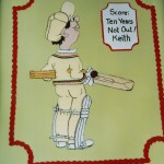 Cricket Inspired Novelty Birthday Cake