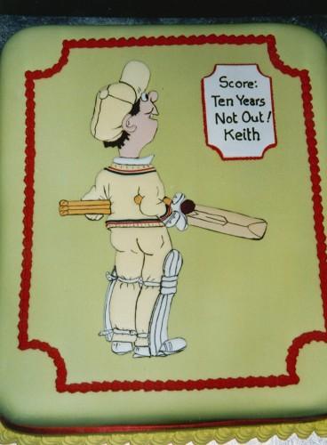 Cricket Inspired Novelty Birthday Cake