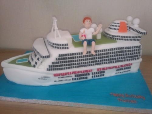 Bon Voyage Cruise Cake