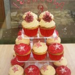 Cheerleader Inspired Cup Cakes