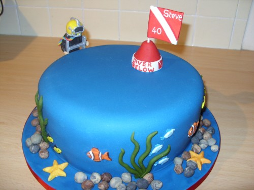 Deep Sea Diver Birthday Cake
