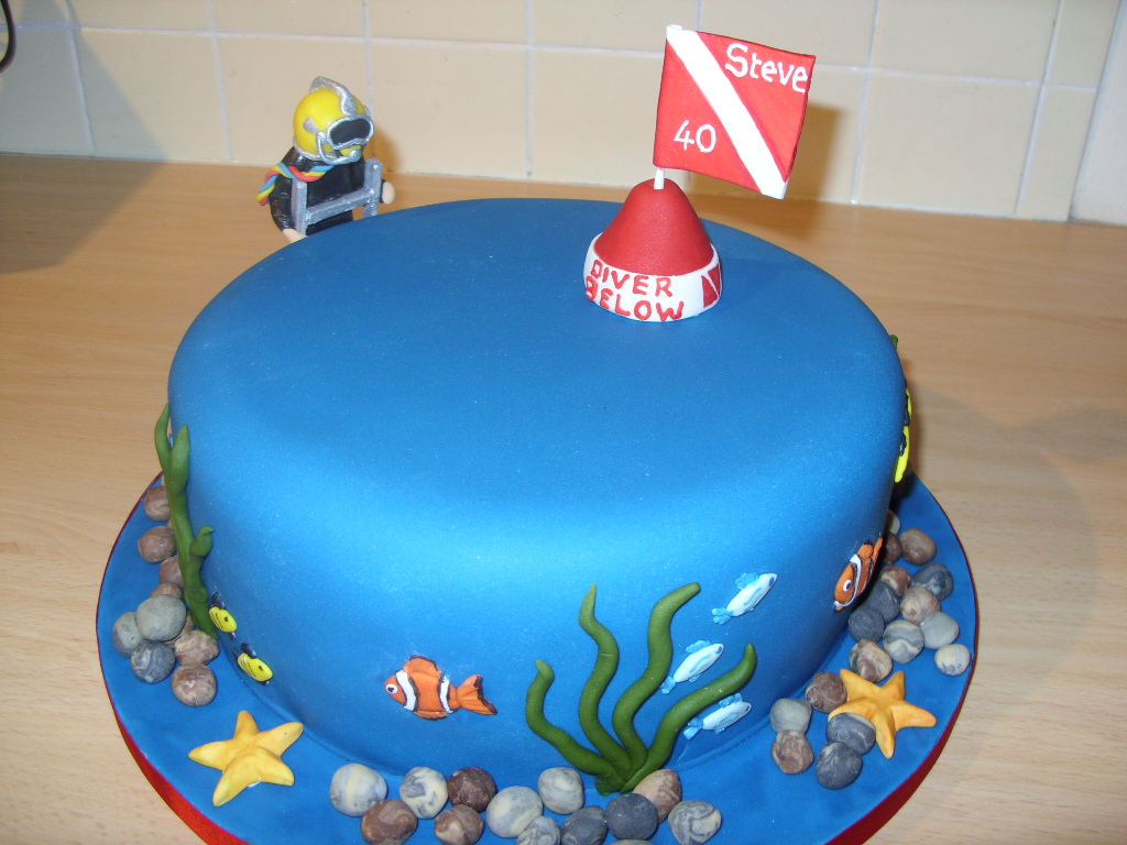 Deep Sea Diver Birthday Cake   Susie s Cakes