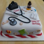 Student Doctor Medical Birthday Cake