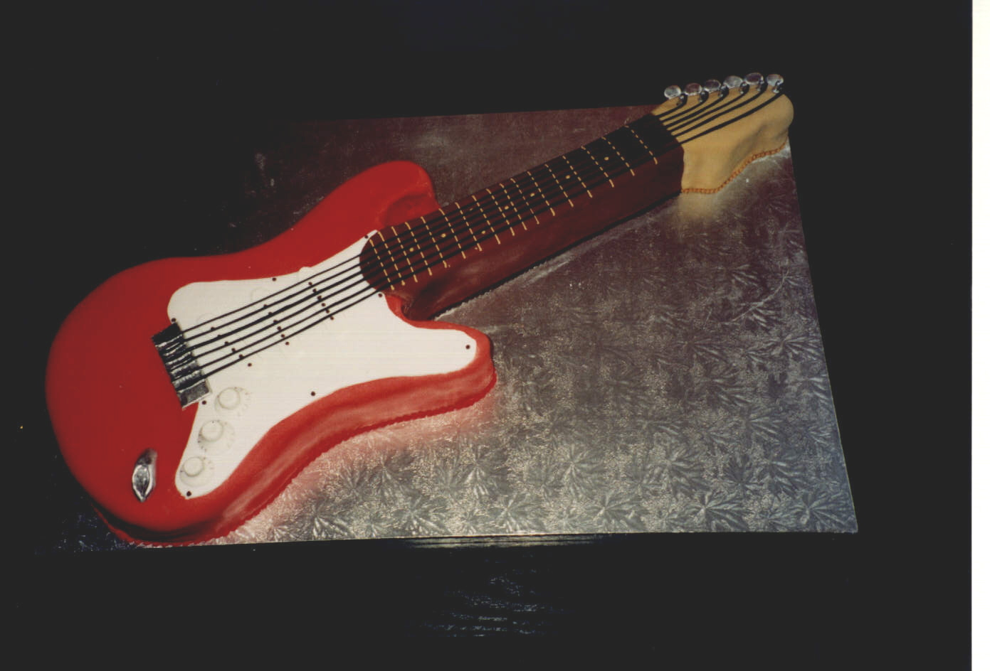 Birthday Guitar Cake With Name