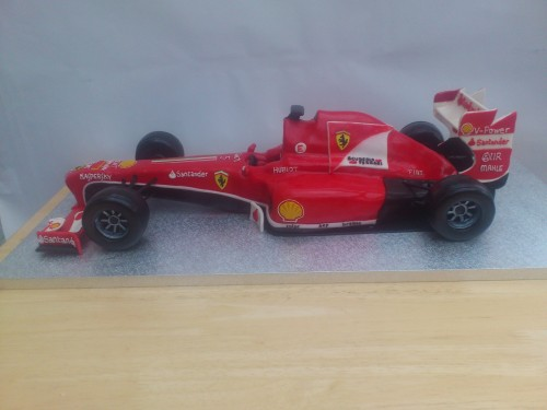 Ferrari F1 Racing Car Novelty Birthday Cake Sponge Poole Dorset Detail 1