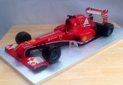 Ferrari F1 Racing Car Novelty Birthday Cake Sponge Poole Dorset Main