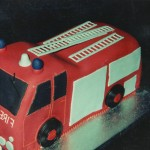Fire Engine Novelty Birthday Cake