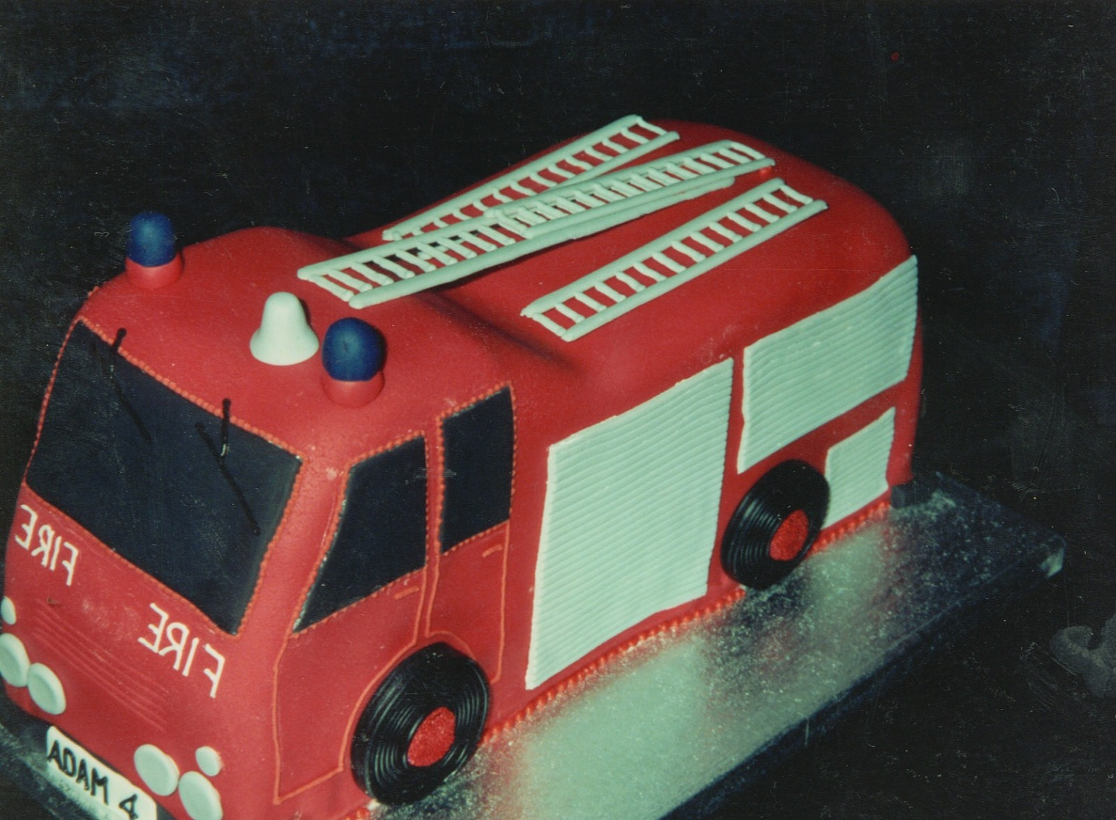 Super Fire Engine Birthday Cake Susies Cakes Funny Birthday Cards Online Alyptdamsfinfo