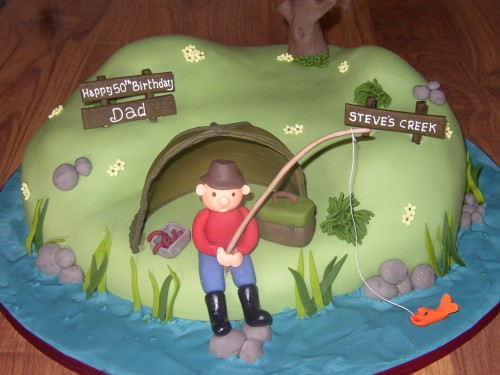 Fishing Inspired Novelty Birthday Cake