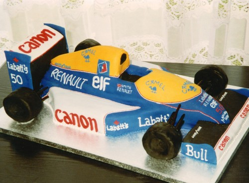 Nigel Mansell's Formula 1 Racing Car Birthday Cake
