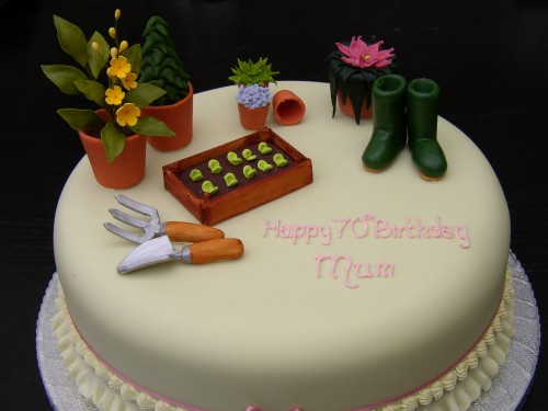 Gardeners Novelty Birthday Cake