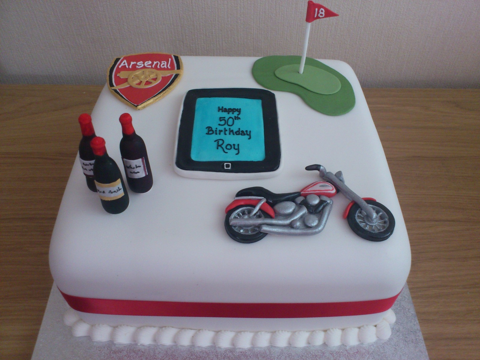 Golf Football Wine Motorcycle Techno Fan Birthday Cake Susies