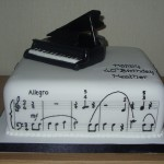 Grand Piano With Music Birthday Cake