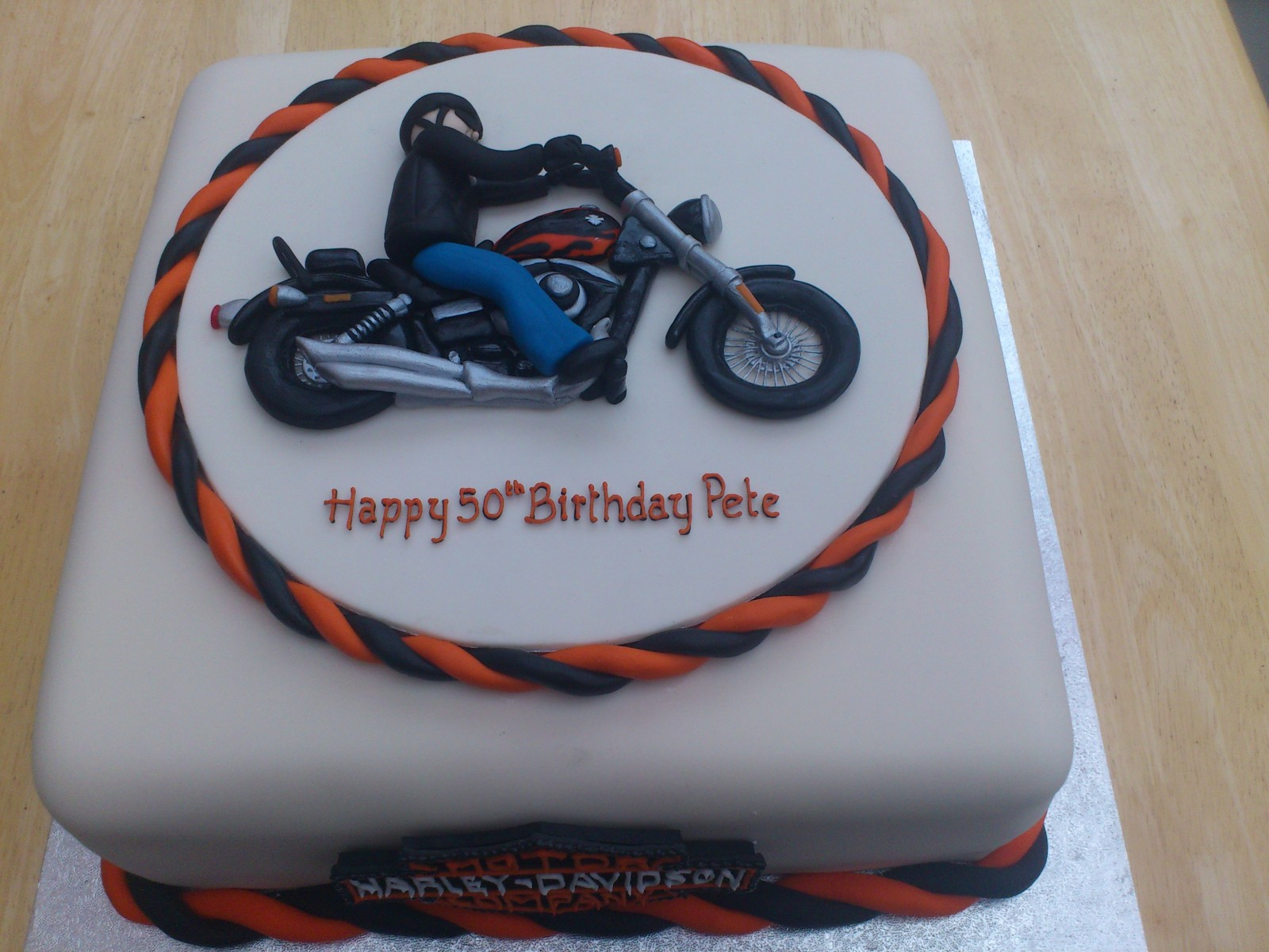 Swell Harley Davidson Easy Rider Cake Susies Cakes Funny Birthday Cards Online Fluifree Goldxyz