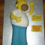 Homer Simpson Inspired Birthday Cake