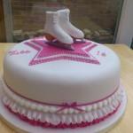 White Ice Skates Cake