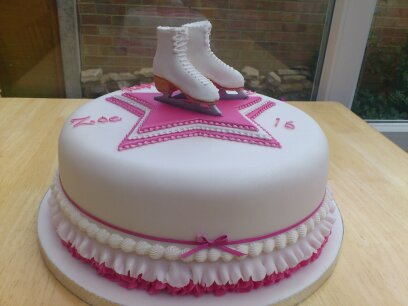 Ice Skating Birthday Cakes Uk