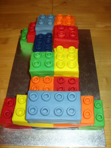 Lego Building Block Inspired Novelty Birthday Cake