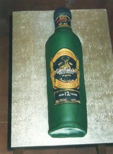 Bottle of Malt Whisky Birthday Cake