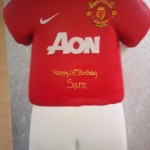 Man Utd Football Strip Birthday cake