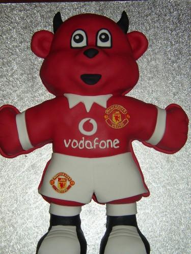 Man Utd Red Devil Mascot Birthday cake