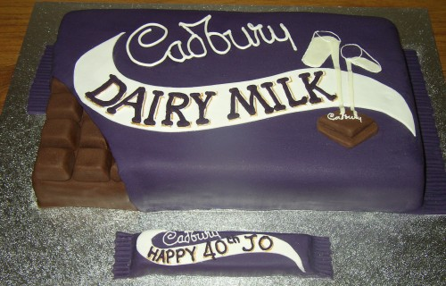Milk Chocolate Bar Novelty Birthday Cake