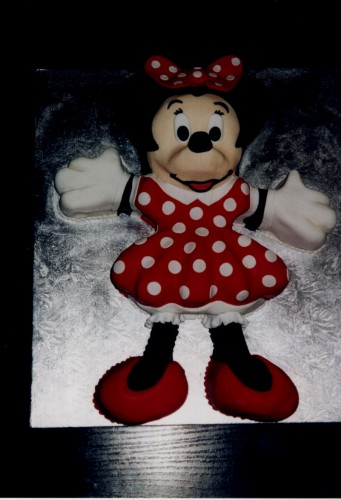 Minnie Mouse Inspired Birthday Cake
