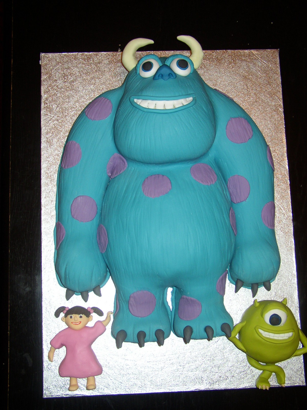 Awesome Monsters Inc Inspired Birthday Cake Susies Cakes Personalised Birthday Cards Veneteletsinfo