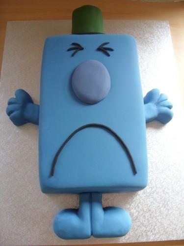 Mr Grumpy Novelty Birthday cake