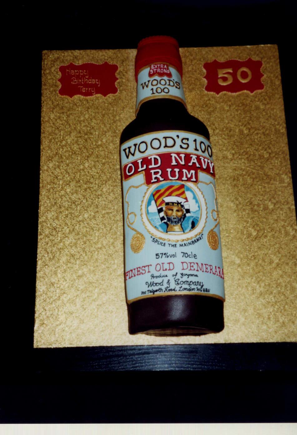 Bottle Of Navy Rum Birthday Cake
