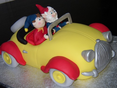 Noddy And Big Ears In Noddy's Car Birthday Cake
